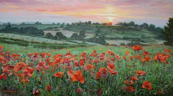 "Alexander Samokhvalov. ""Red poppies in a green field"" - photo 1"