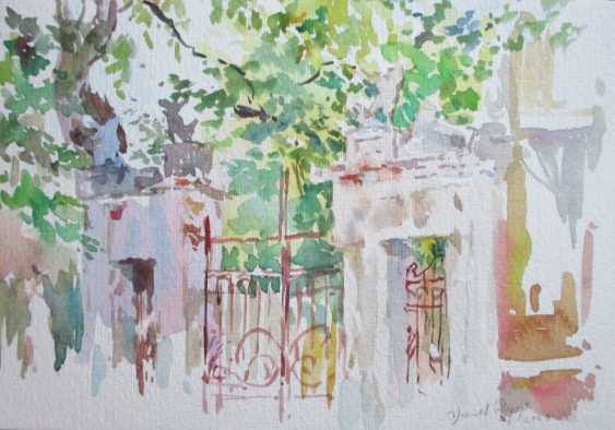 Fedor Usachev. The gate of the city, after a hot day. - photo 1