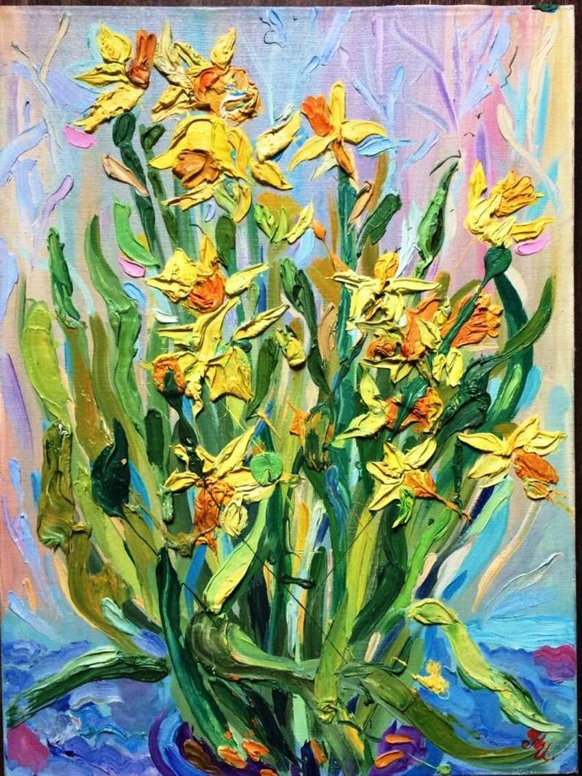 Natalia Ignatyeva. Yellow daffodils-Yellow daffodils - photo 1