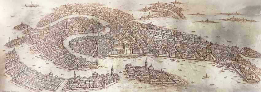 Marianna Khodakova. Map Of Venice - photo 1