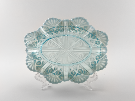 Vase of pressed colored glass, England, the company is Davidson, perfect condition, 1890. - photo 3