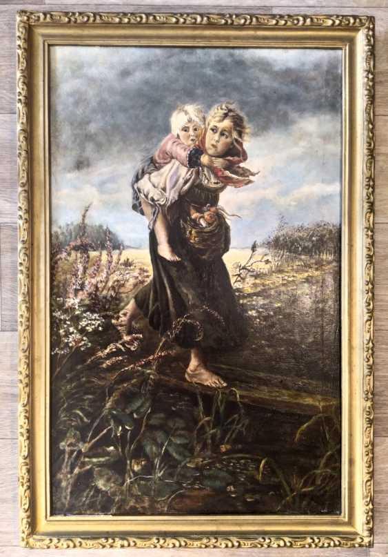 "Viktoria Stele. ""Children running from the storm"" Egorov Konstantin Makovsky - photo 1"