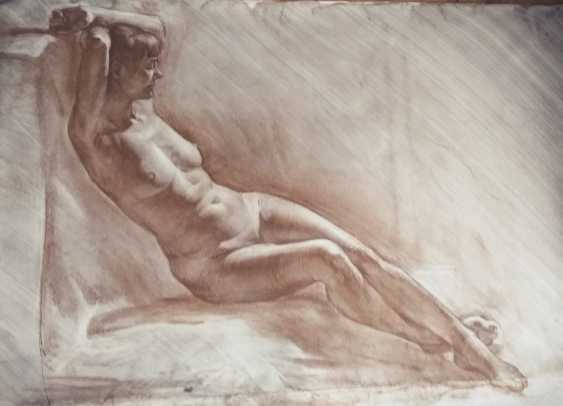 Sofia Basova. Reclining nude model - photo 1