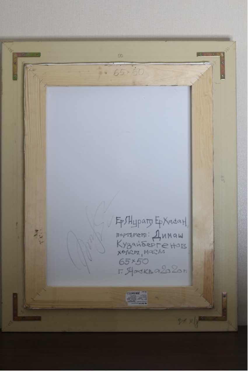 Ermurat Yerhasan. Original oil painting Portrait Dimash Kudaibergenova - photo 4