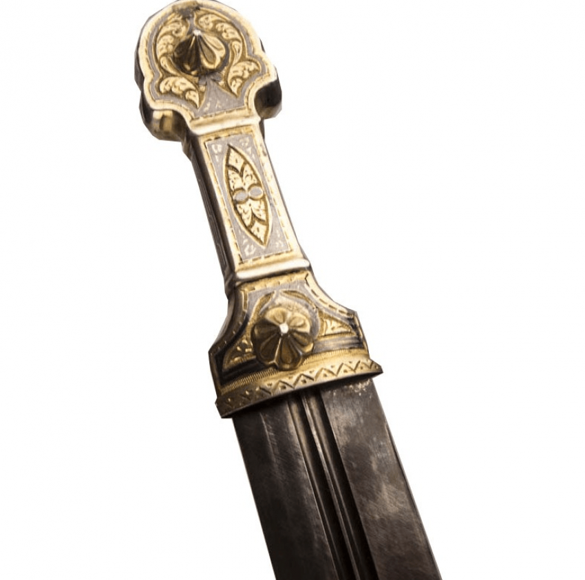 The dagger in silver niello ,gilding - photo 2