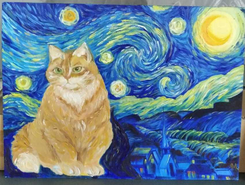 Maryna Vlasova. If van Gogh painted cats - photo 1