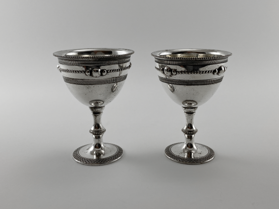 "Stand for eggs ""Duet."" England, art Nouveau, Silver, 1920 - photo 4"