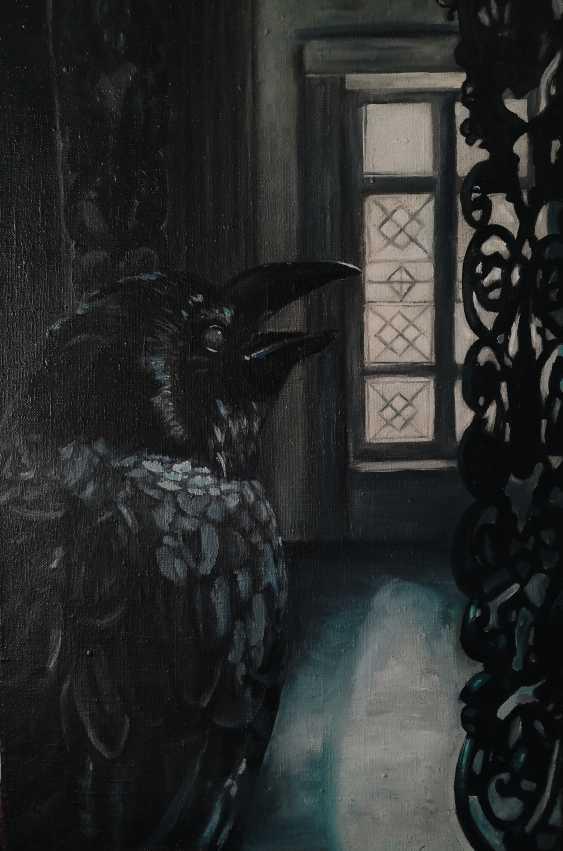 Anastasija Grossmane. A crow in the dark room / the Raven in a dark room - photo 1
