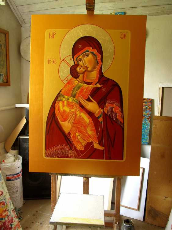 "Sergiy Roy. ICON ""VLADIMIR'S MOTHER OF GOD"" - photo 2"