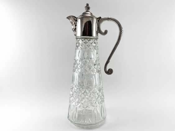 "Water jug ""Falstaff"". England, glass, silver, 1950 - photo 1"
