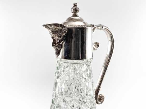 "Water jug ""Falstaff"". England, glass, silver, 1950 - photo 2"