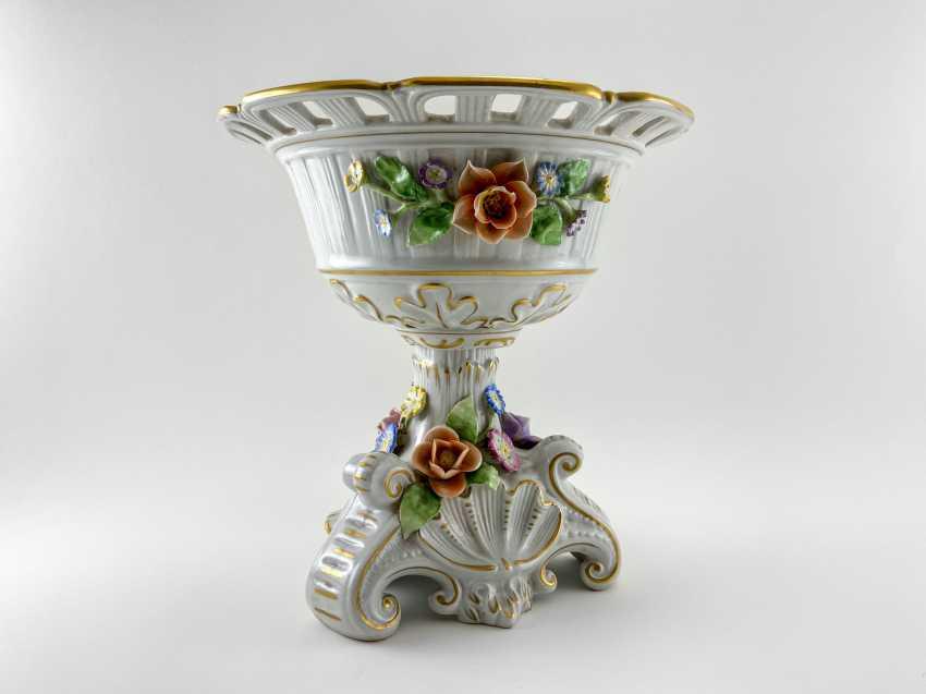 "Porcelain vase for fruit ""Brume"". Germany, Plaue, 1927 - 1973 - photo 1"