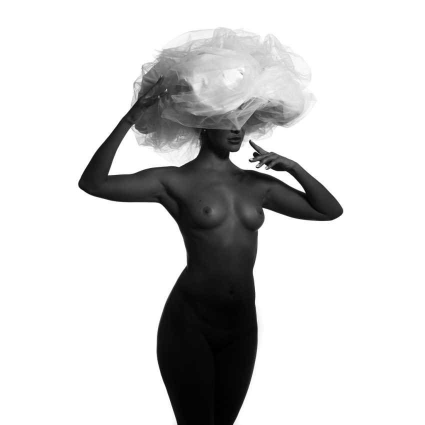Refat Mamutov. BLACK MODEL AND BIG WHITE HAT 1. - photo 1