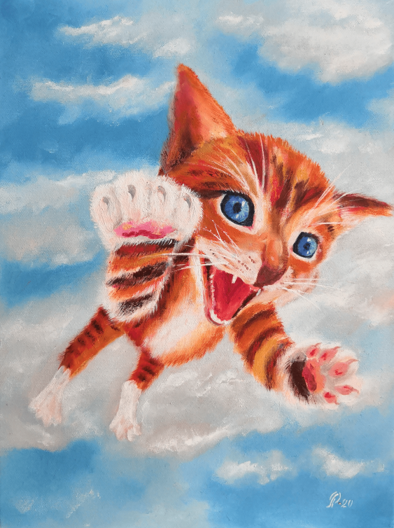 Ludmila Riabkova. Kätzchen in den Wolken - Foto 1