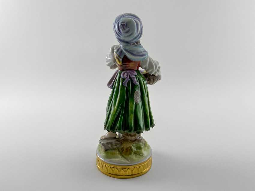 "Porcelain figurine ""Floraison"". Germany, Volkstedt, perfect condition, 1945 - 1951 - photo 3"