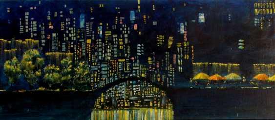 Sergiy Roy. Abends in der großen Stadt (Diptychon) - Foto 2