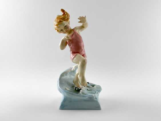 "Porcelain figurine ""Vacation"". England, Royal Worcester, hand made, 1950-e gg - photo 1"