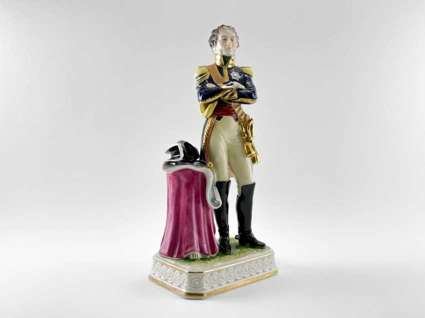 """Porcelain figurine Marshal """"Soult"""". Germany, Rudolf Kämmer, 1953-1972, perfect condition - photo 1"""