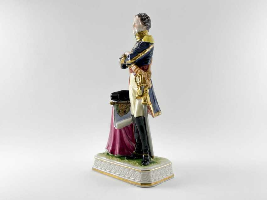 """Porcelain figurine Marshal """"Soult"""". Germany, Rudolf Kämmer, 1953-1972, perfect condition - photo 2"""