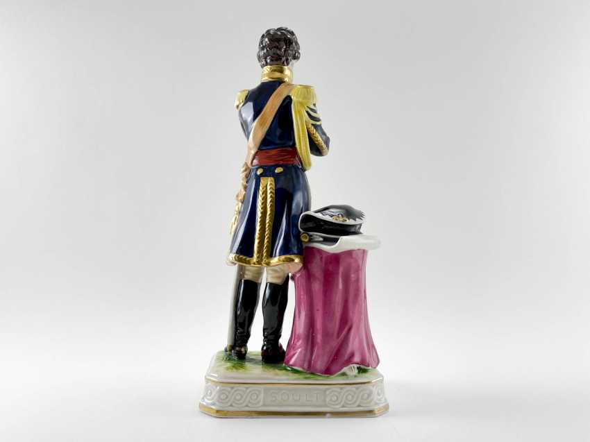 """Porcelain figurine Marshal """"Soult"""". Germany, Rudolf Kämmer, 1953-1972, perfect condition - photo 3"""