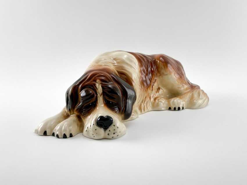 "Porcelain figurine ""St. Bernard"", England, 1960-1980 gg, perfect comp. - photo 1"