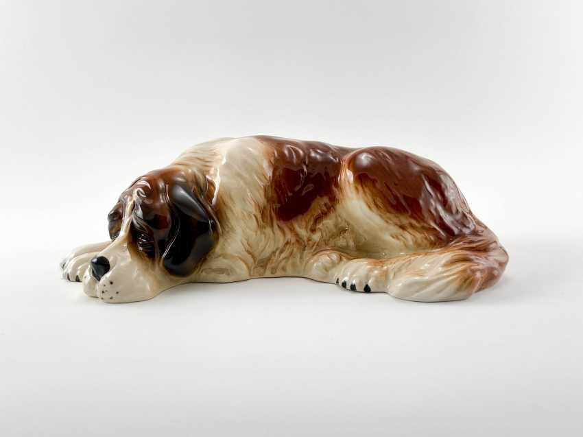"Porcelain figurine ""St. Bernard"", England, 1960-1980 gg, perfect comp. - photo 2"