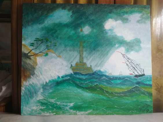 Elena Kozar-Gurina. Storm at sea near the lighthouse. Storm at sea near the lighthouse. - photo 2