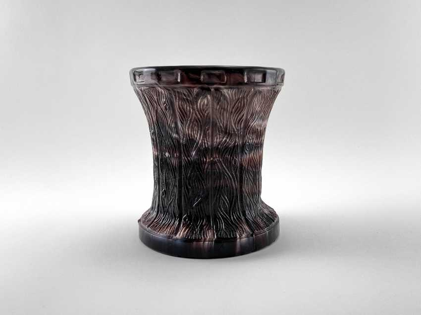 "Vase ""Slag"". England, marble glass, perfect condition, 1880 - photo 1"