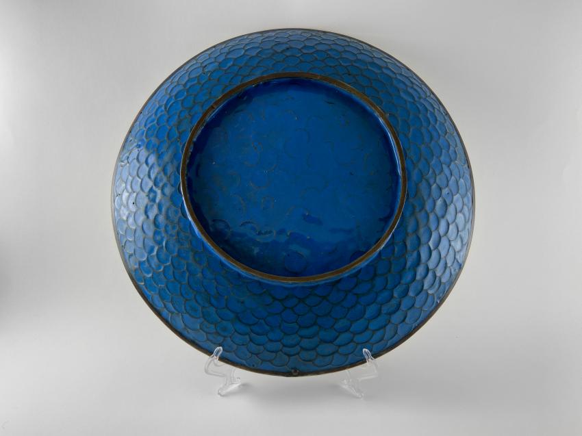 "Dish ""Hanataba"". Japan, enamel, handmade, Meiji period 1868 - 1912gg. - photo 2"