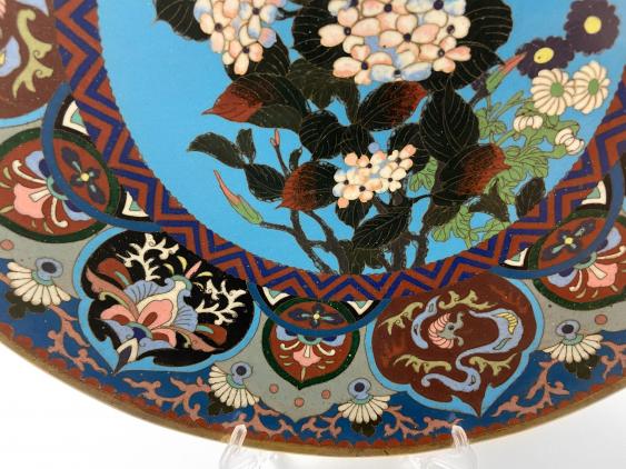 "Dish ""Hanataba"". Japan, enamel, handmade, Meiji period 1868 - 1912gg. - photo 3"