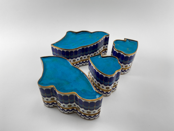 "Set of boxes ""Damon"". China, enamel, handmade, the second half of the 20th century. - photo 4"