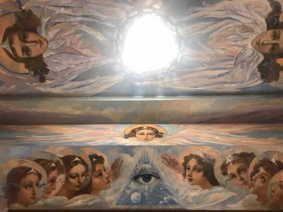 Lilia Kovalenko. Fresco in the porch of the temple of Kievo-Pecherskaya Lavra of St. Sergius of Radonezh, the Royal family - photo 1