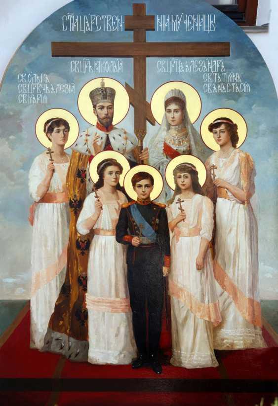 Lilia Kovalenko. Fresco in the porch of the temple of Kievo-Pecherskaya Lavra of St. Sergius of Radonezh, the Royal family - photo 2