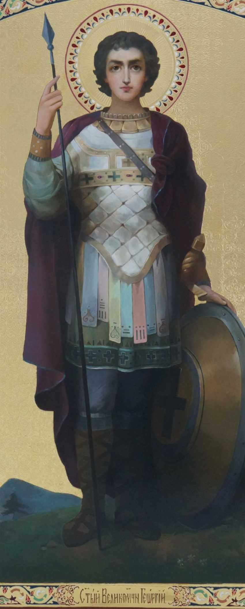 Lilia Kovalenko. Der Heilige Paramon, Gottesmutter Maria, Jesus Christus, Der Heilige Georg Im Kampf Mit Dem Drachen - Foto 4