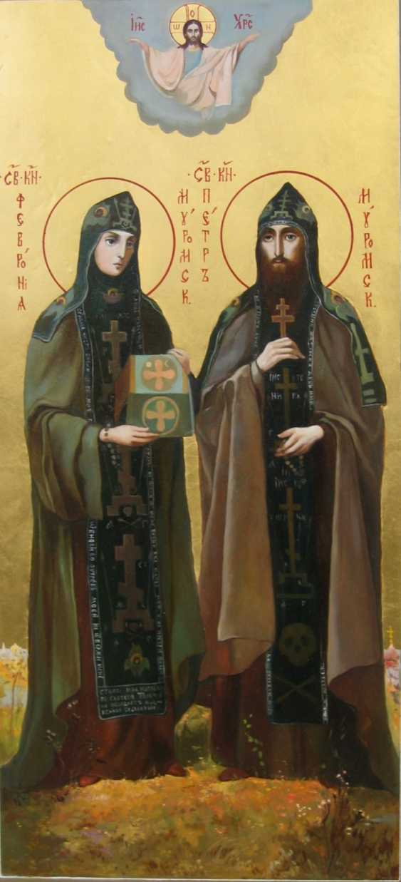 Lilia Kovalenko. Pochaevskaya icon of the mother of God, Saints, Perth and Fevronia, Saint Barbara, Holy Trinity - photo 2