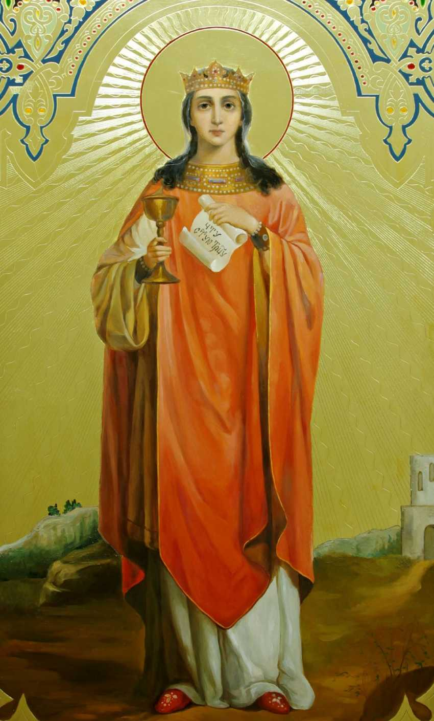 Lilia Kovalenko. Pochaevskaya icon of the mother of God, Saints, Perth and Fevronia, Saint Barbara, Holy Trinity - photo 3