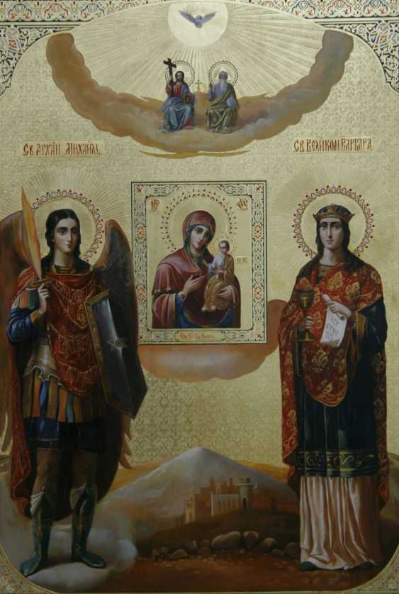 Lilia Kovalenko. The last supper, Icon Look down on humility, Michael the Archangel and Saint Barbara, the Iveron icon of the Mother of God - photo 3