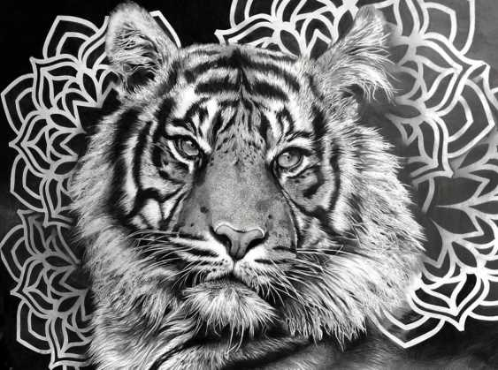 Katya M. Tiger portrait - photo 1