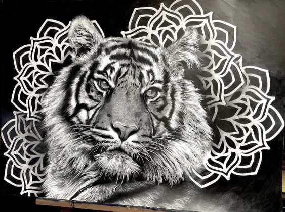 Katya M. Tiger portrait - photo 2