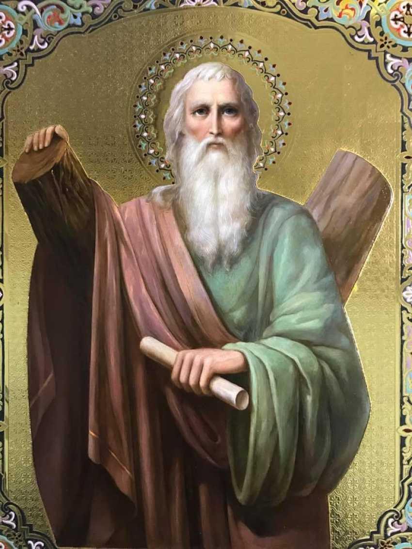 Lilia Kovalenko. Saints Andrew, Paisios Of The Holy Mountain, Theodosius Of The Caves, Righteous Noah - photo 1