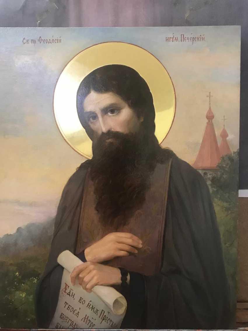 Lilia Kovalenko. Saints Andrew, Paisios Of The Holy Mountain, Theodosius Of The Caves, Righteous Noah - photo 3