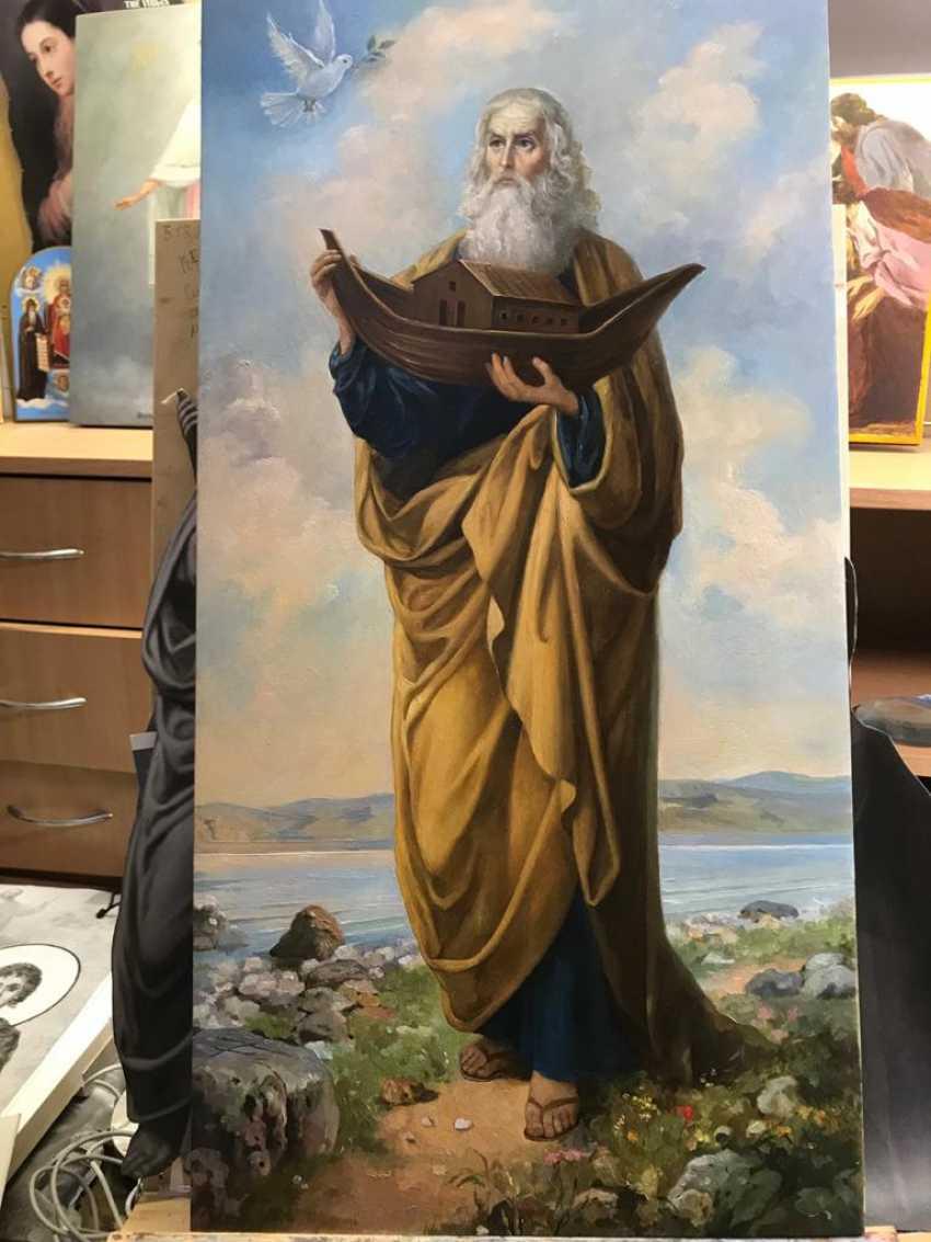 Lilia Kovalenko. Saints Andrew, Paisios Of The Holy Mountain, Theodosius Of The Caves, Righteous Noah - photo 4