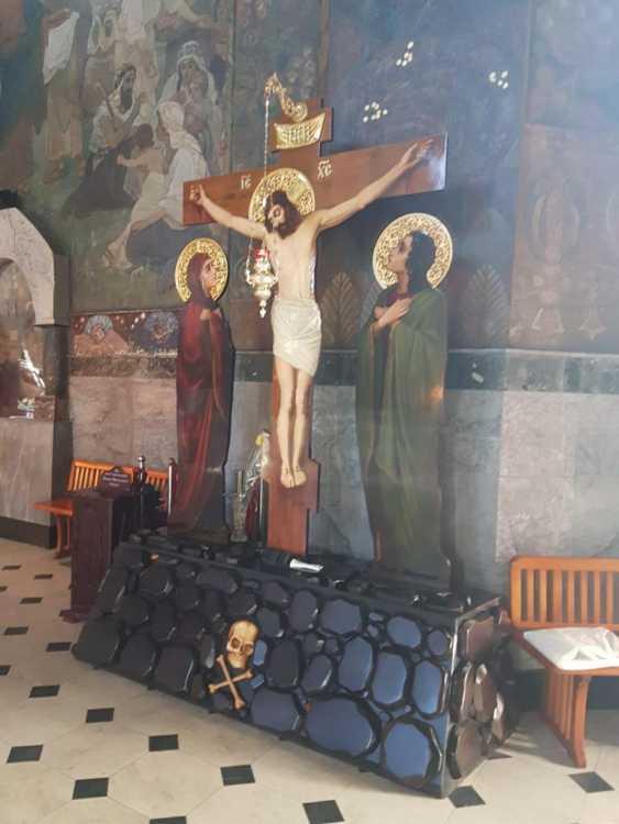 Lilia Kovalenko. Crucifixion, Fresco - photo 1