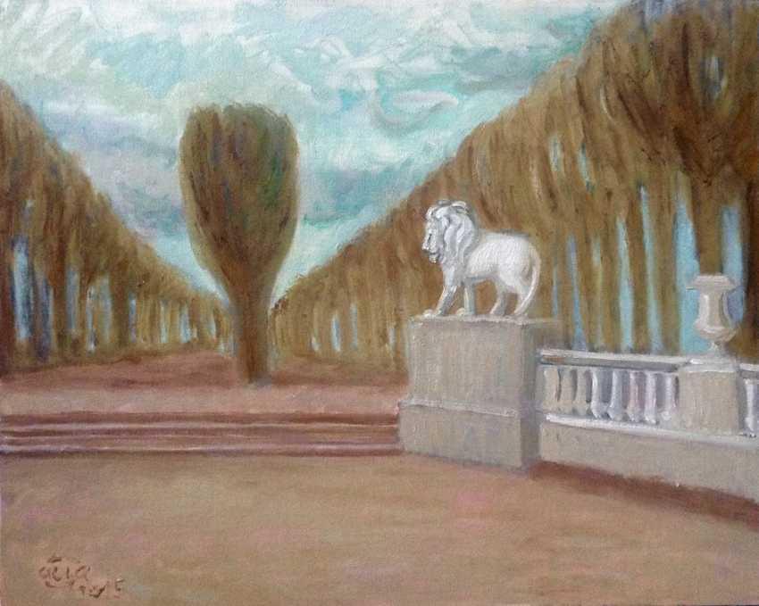 """Alla Senatorova. """"Le jardin du luxembourg, un paysage avec un lion"""". - photo 1"""