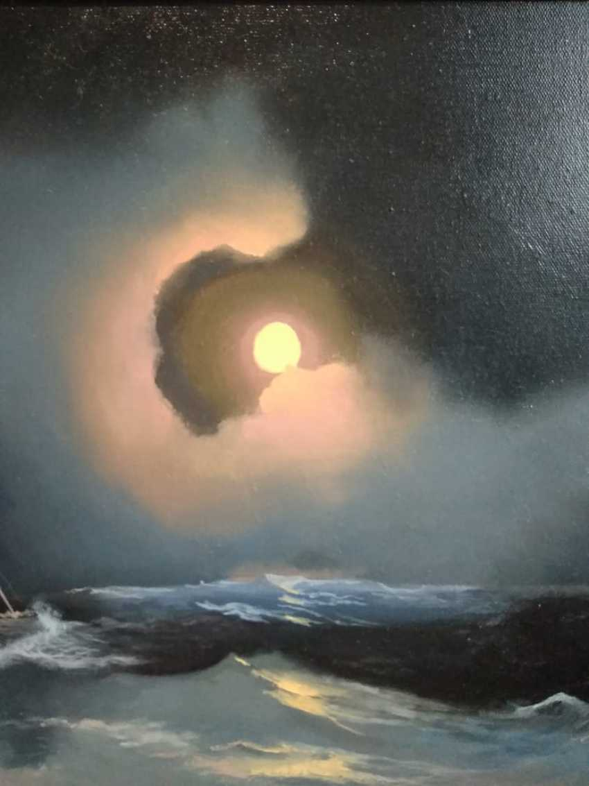 Lilita Salimova. A storm on the sea on a moonlit night - photo 3
