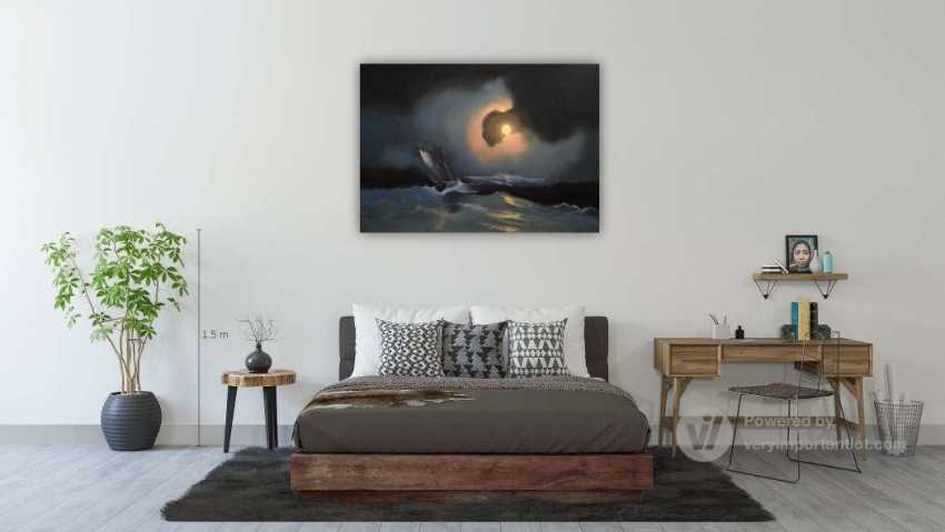 Lilita Salimova. A storm on the sea on a moonlit night - photo 4