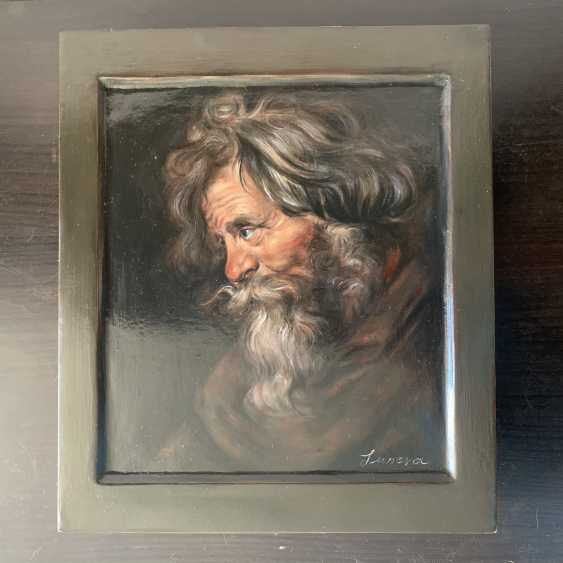 Irina Luneva. Old man's head. Head of old man - photo 1