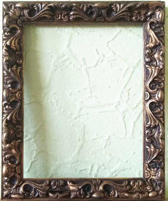 Antique painting frame. Wood, plaster. Restored! - photo 1