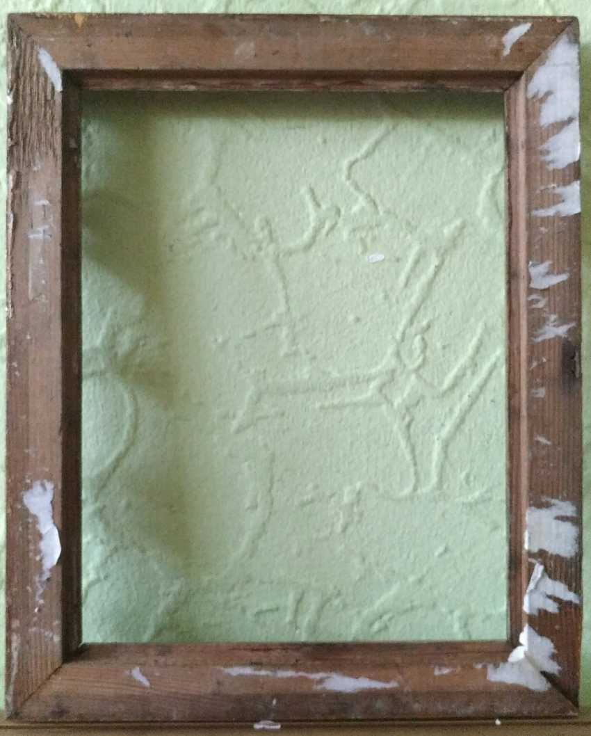 Antique painting frame. Wood, plaster. Restored! - photo 2