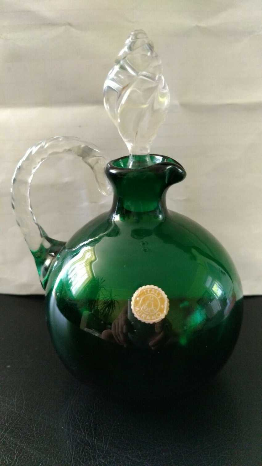 """Vintage """"Murano"""" carafe with lid. 60s - photo 1"""